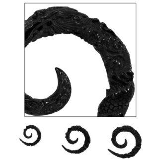Wild Tribe Acrylic Ebony Dragon Spiral Taper