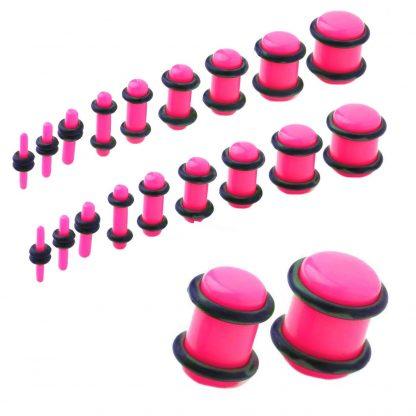 UV Acrylic No Flare Plug   Fluro Pink
