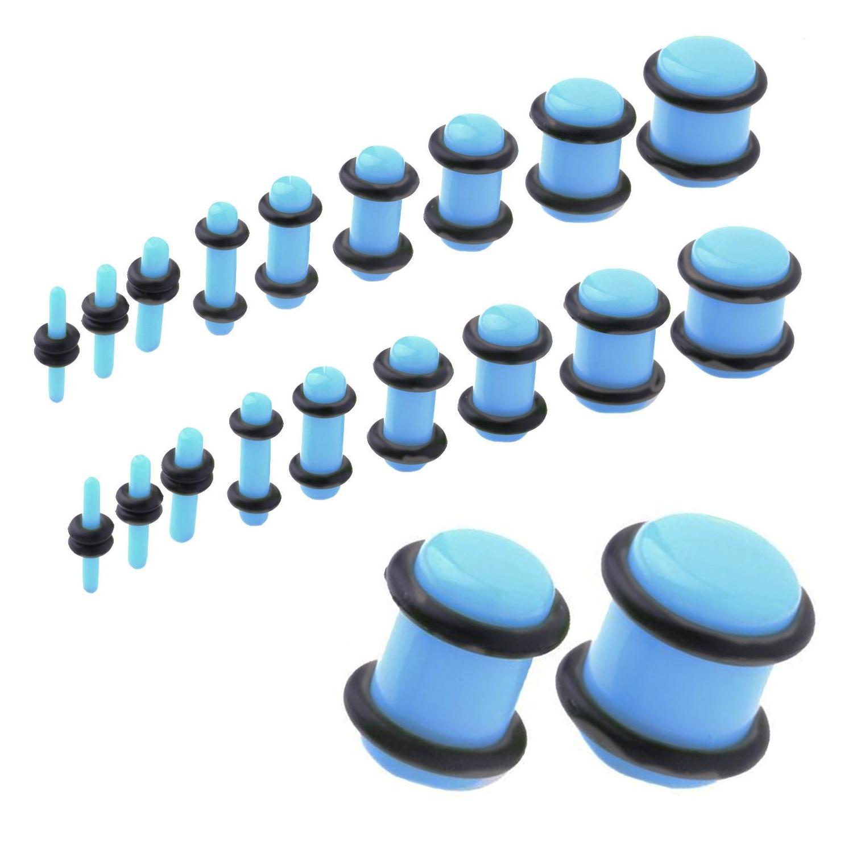 UV Acrylic No Flare Plug   Light Blue