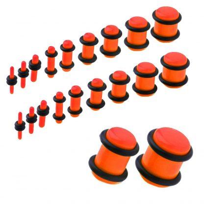 UV Acrylic No Flare Plug   Orange