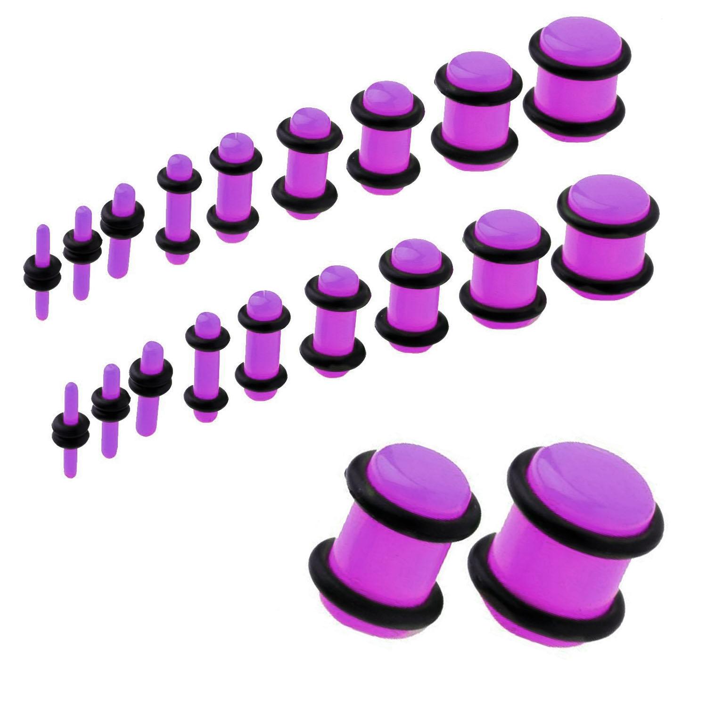UV Acrylic No Flare Plug   Purple