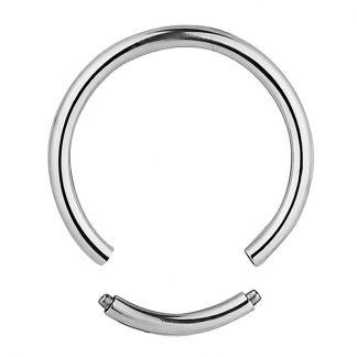 16ga Titanium Anodised Silver Segment Rings Lip Ear Nose Eyebrow Cartilage Septum Hoop Tragus Daith