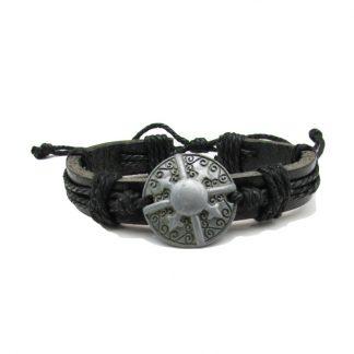 Half Dharma Chakra Leather Bracelets 1