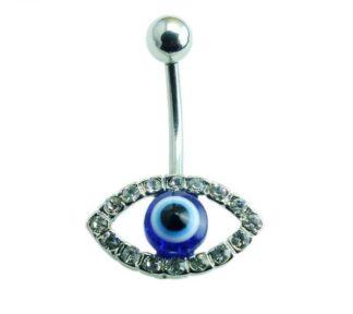 CZ Gemmed Eye Belly Ring