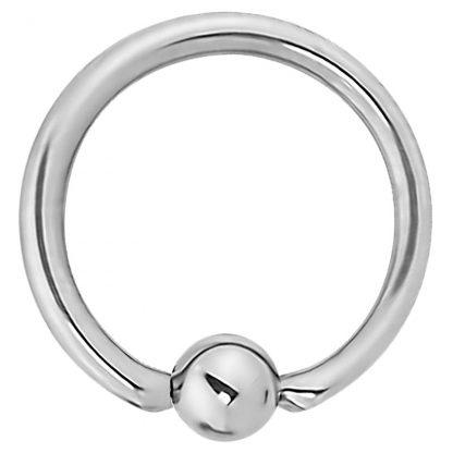 14g 16mm Surgical Steel Captive Bead Ring Septum Cartilage Eyebrow Lip Nipple Piercing Ear Hoops