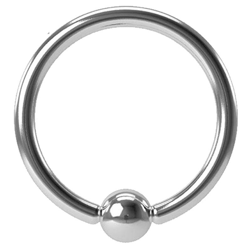 16g 10mm Surgical Steel Captive Bead Ring Septum Cartilage Eyebrow Lip Nipple Piercing Ear Hoops