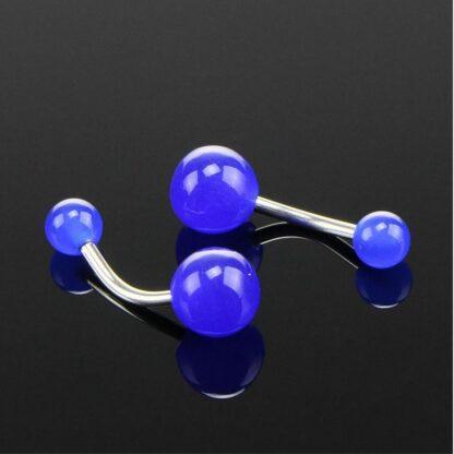 UV Glow Acrylic Belly Bars   Dark Blue
