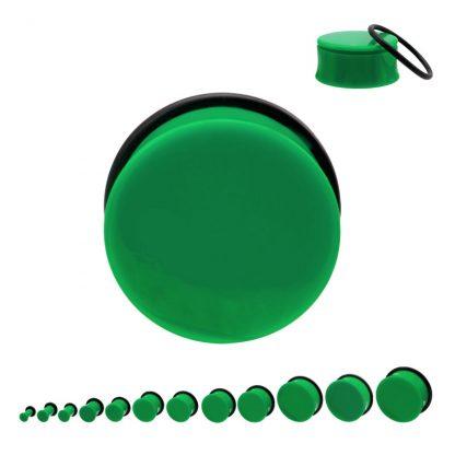 Acrylic Single Flare Plug Green