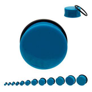 Acrylic Single Flare Plug Light Blue
