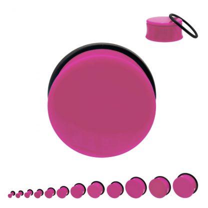 Acrylic Single Flare Plug Pink