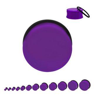 Acrylic Single Flare Plug Purple