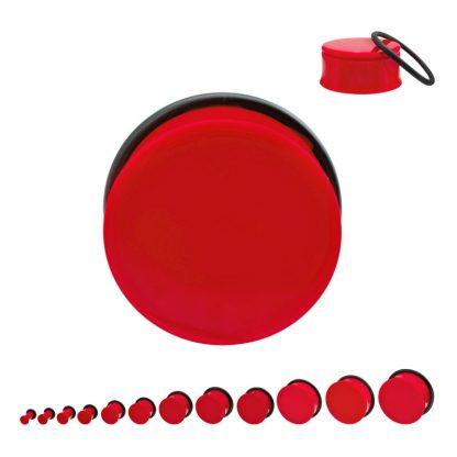Acrylic Single Flare Plug Red