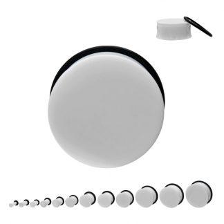 Acrylic Single Flare Plug White