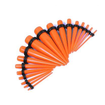 Bright UV Coloured Acrylic Tapers Orange