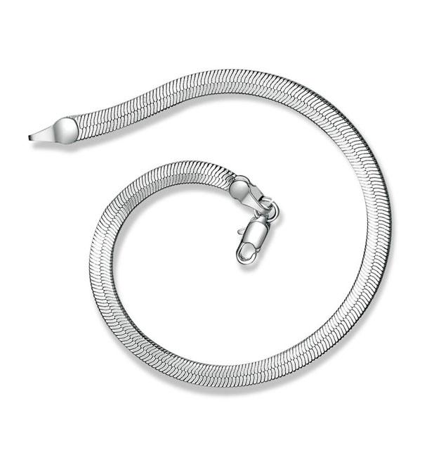 Snake Scale Link Silver plated Bracelet
