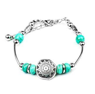 Sun Flower Turquoise Bead Bracelets
