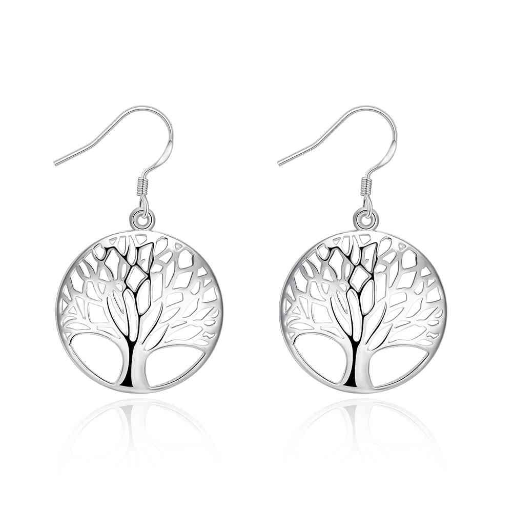 Tree Of Life Silver Earrings