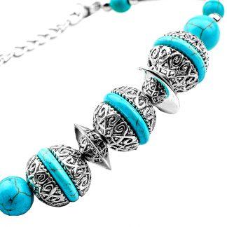 Vintage Turquoise Bead Bracelets (2)