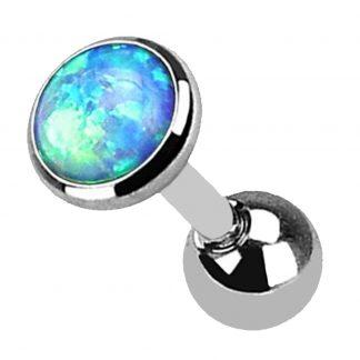 Blue Opal Helix Tragus Cartilage Earring Labret Barbell Piercing Stud 1