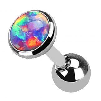 Rainbow Opal Helix Tragus Cartilage Earring Labret Barbell Piercing Stud 1