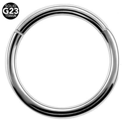 14g G23 Titanium Hinged Segment Clicker Ring Nipple Ear Cartilage Eyebrpw Lip Piercing