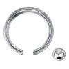 16G 10mm G23 Titanium Crystal Captive Bead Ring Lip Ear Nipple Eyebrow Septum Piercing Jewellery