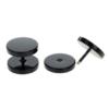 16g 6mm Black Surgical Steel Fake 10mm Plug Tunnel Cartilage Ear Stud Fit
