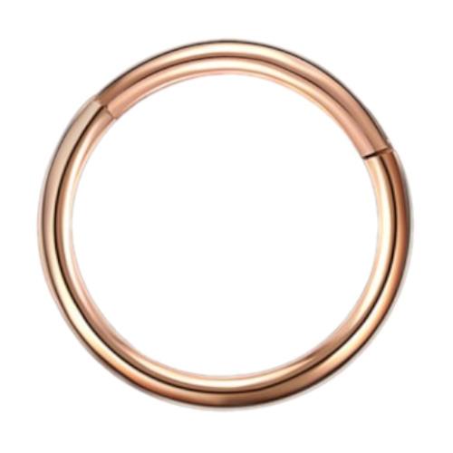 16g G23 Rose Gold Titanium Hinged Segment Clicker Ring Nipple Ear Cartilage Eyebrow Lip Piercing