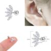16g Zircon Crystal Petals 6mm Surgical Steel Cartilage Lobe Tragus Studs
