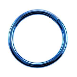 G23 Dark Blue Titanium Hinged Segment Clicker Ring Nipple Ear Cartilage Eyebrow Lip Piercing