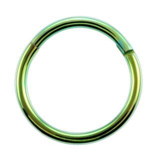 G23 Green Titanium Hinged Segment Clicker Ring Nipple Ear Cartilage Eyebrow Lip Piercing