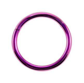 G23 Pink Titanium Hinged Segment Clicker Ring Nipple Ear Cartilage Eyebrow Lip Piercing